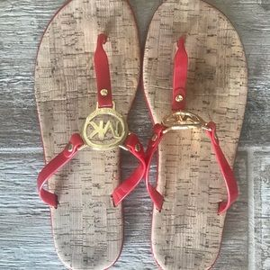 Michael Kors Red Jelly Sandals